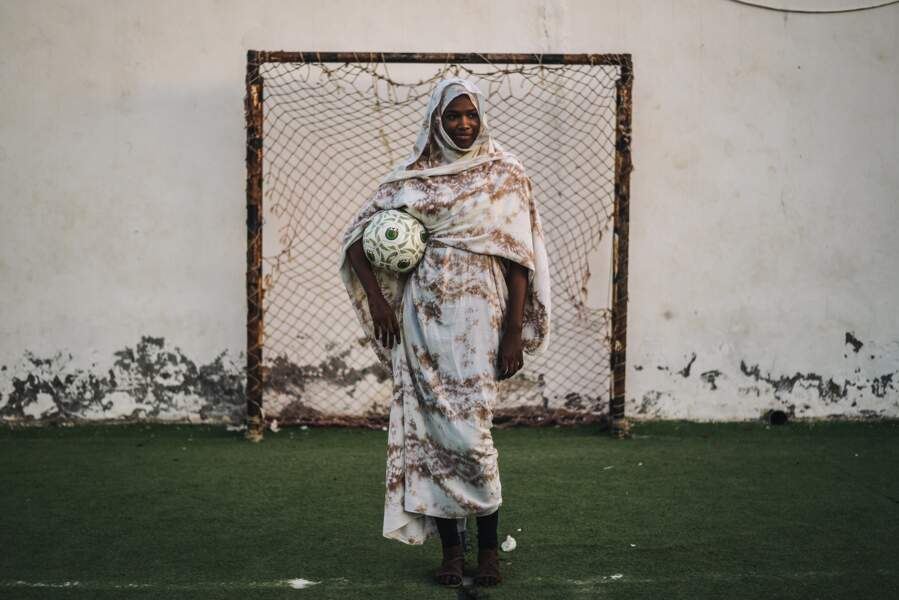 Mauritanienne et footballeuse