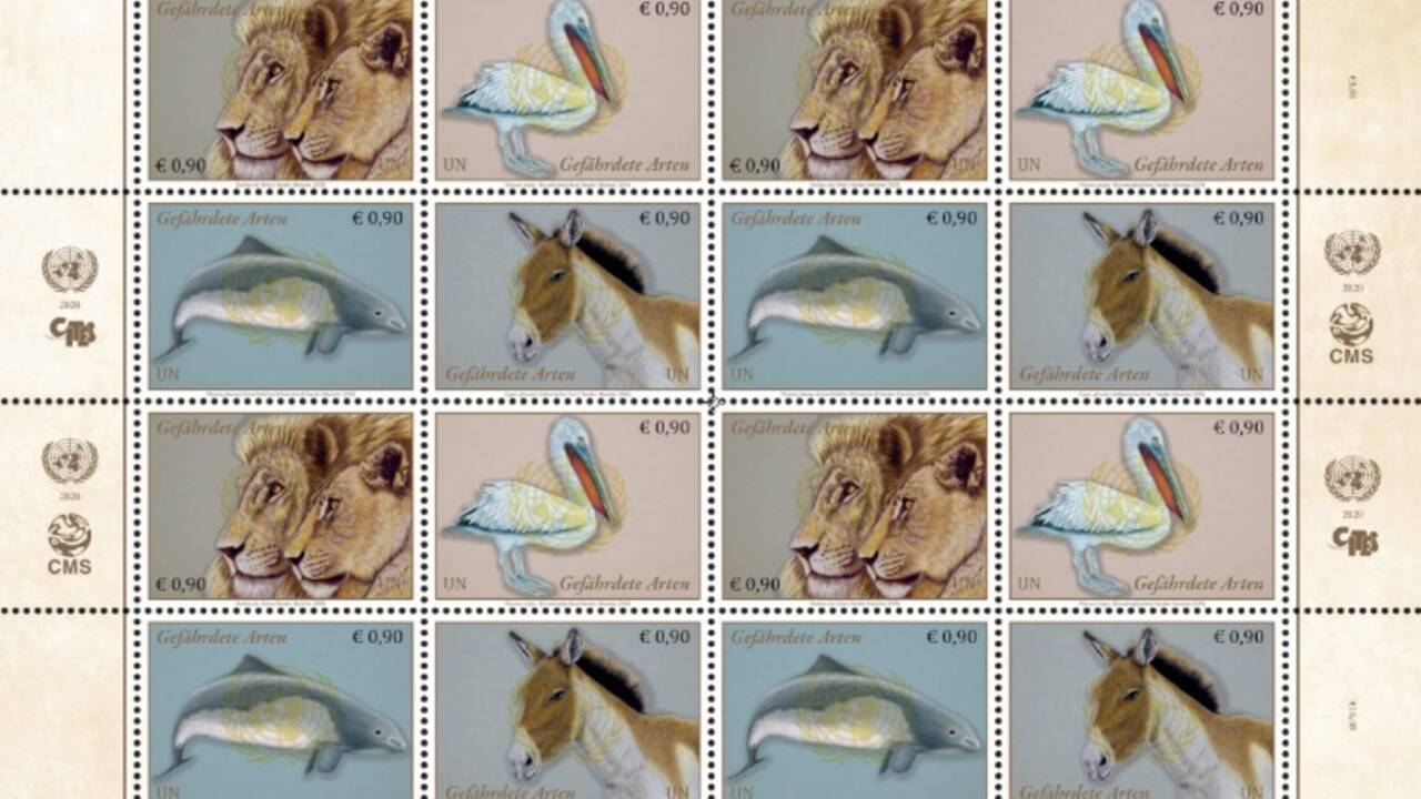 L'ONU édite une série de timbres à l'effigie d'animaux migrateurs en danger d'extinction