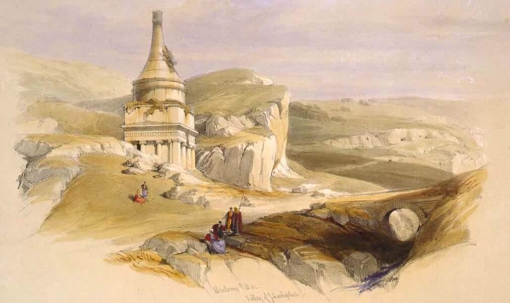 Le monument d'Absalom ou tombe d'Absalom, vallée de Jehoshaphat