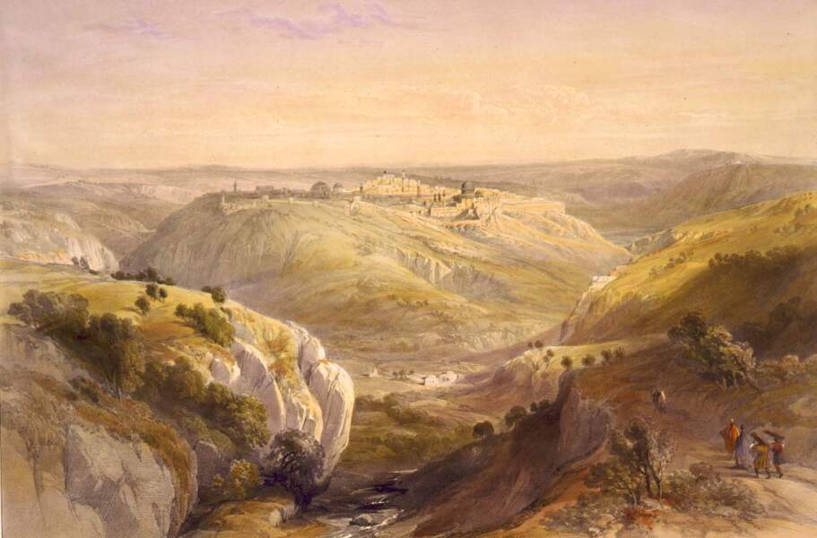 Jérusalem depuis le mont des Oliviers, 1839