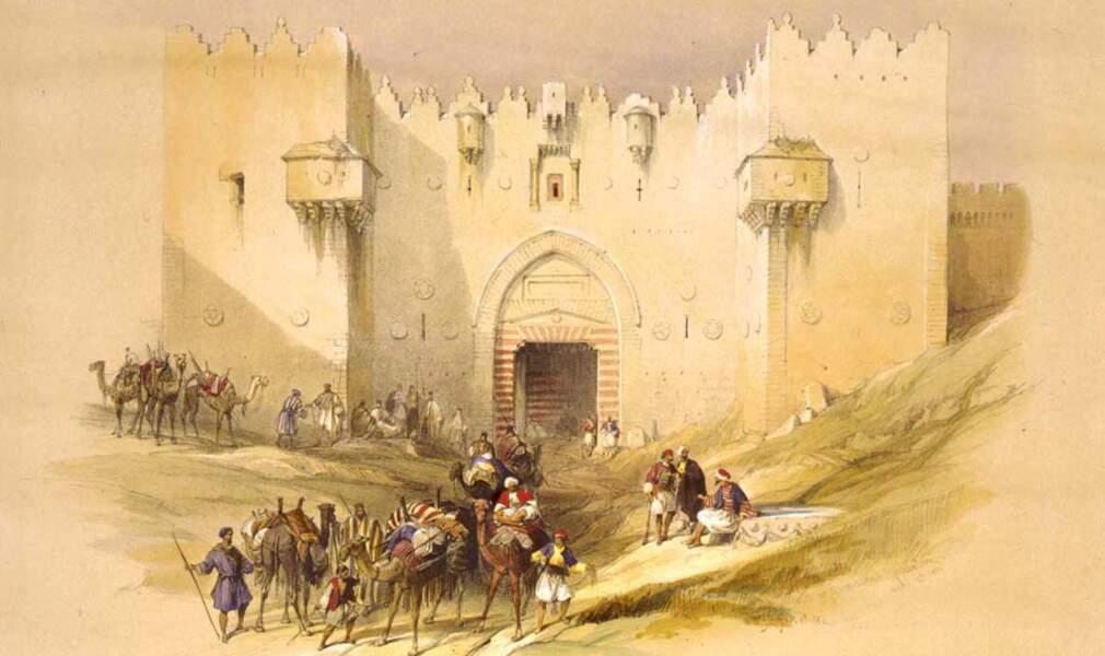 La porte de Damas à Jérusalem, 1839