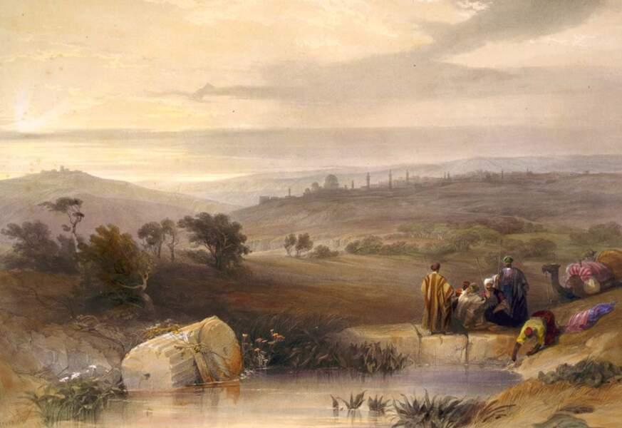 Jérusalem vue du nord, 1839
