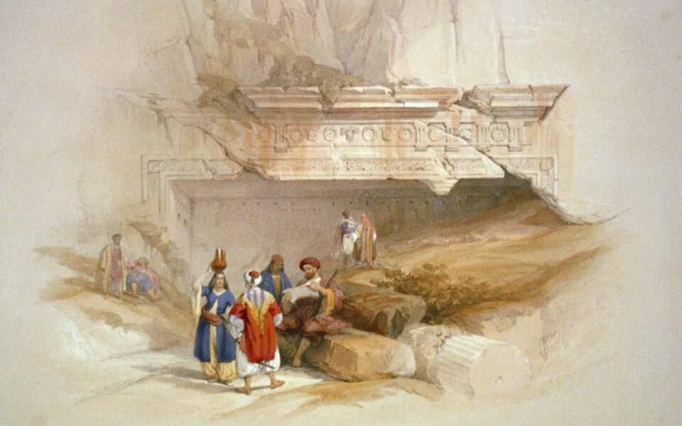 Entrée du Tombeau des rois, à Jérusalem, 1839