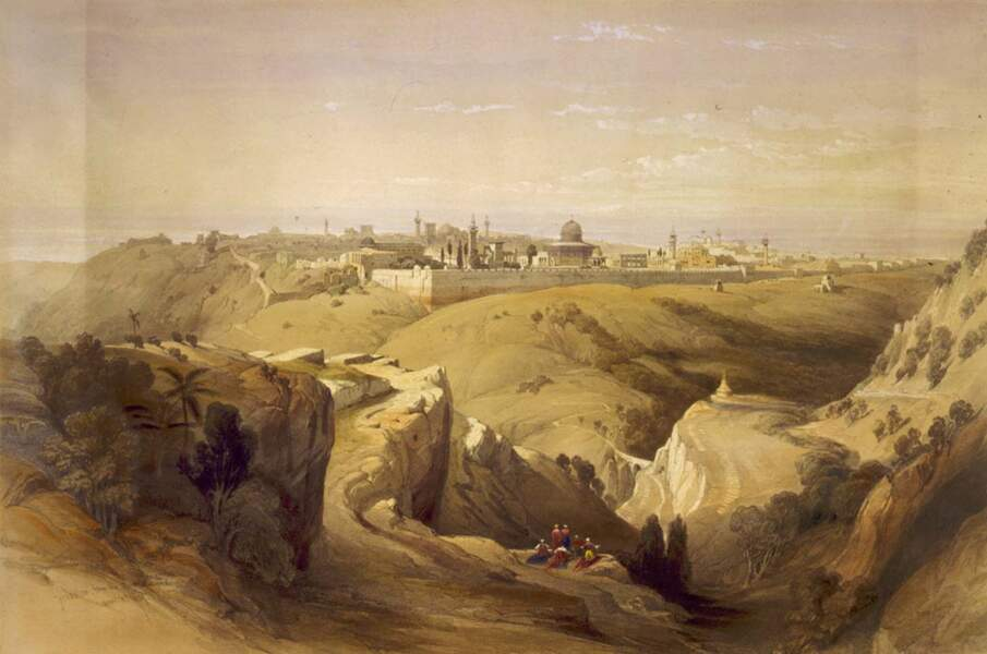 Jérusalem, depuis le Mont des Oliviers, 1839