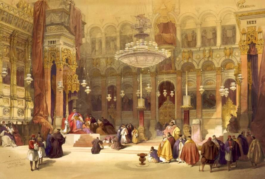 L'Église grecque du Saint-Sépulcre, à Jérusalem, 1839