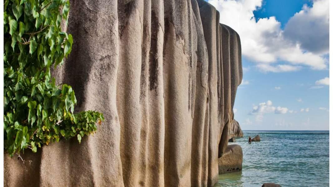 Le travail de l'érosion sur les rochers