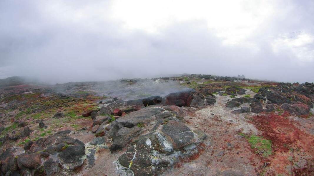 Gunnuhver, source chaude située sur la péninsule de Reykjanes