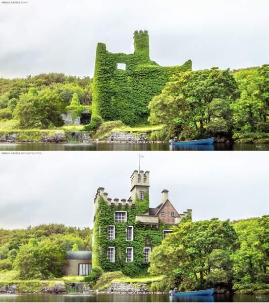 Le château de Menlo, Irlande