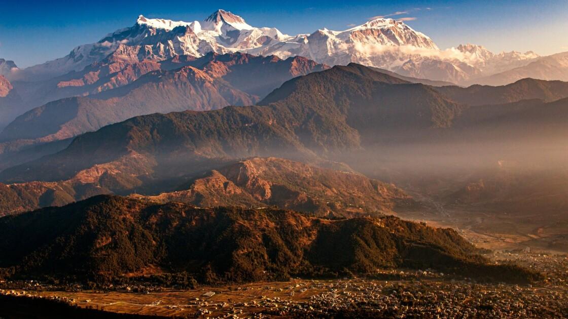 Des habitants du nord de l'Inde partagent de rares photos de l'Himalaya visible à 200 kilomètres