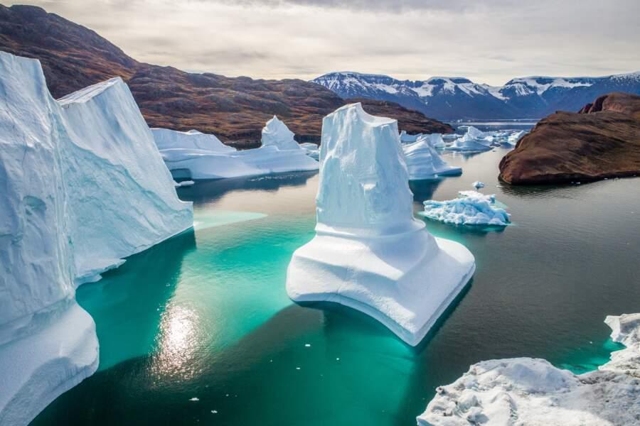 Instantané de photographe : cimetière d'icebergs par Florian Ledoux