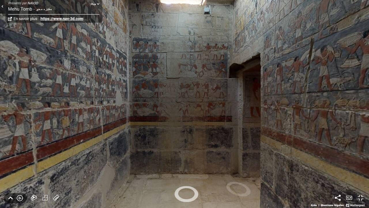 Explorez une tombe de 4300 ans et d'autres merveilles de l'Egypte antique en réalité virtuelle