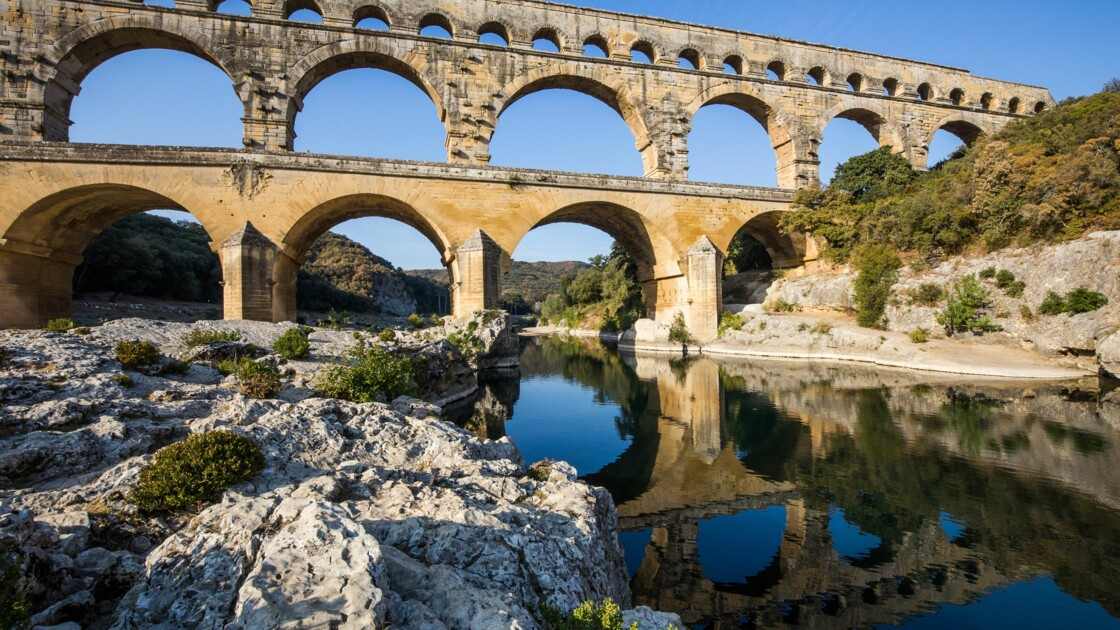 Le Pont du Gard, joyau du patrimoine mondial, fermé et déserté