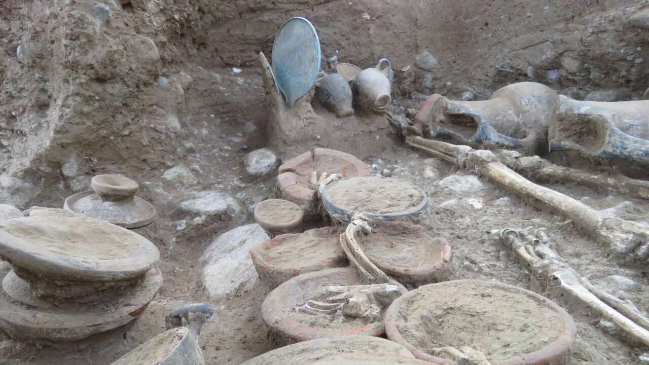 La tombe étrusque exhumée en Haute-Corse commence à révéler ses secrets