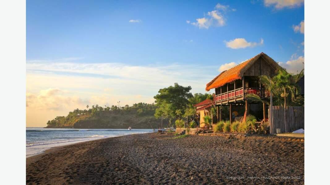 Plage d'Amed,  sur la côte nord de Bali
