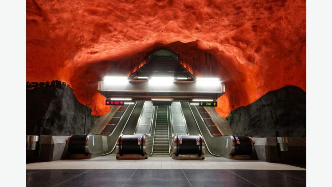 Solna Centrum Station à Stockholm, Suède