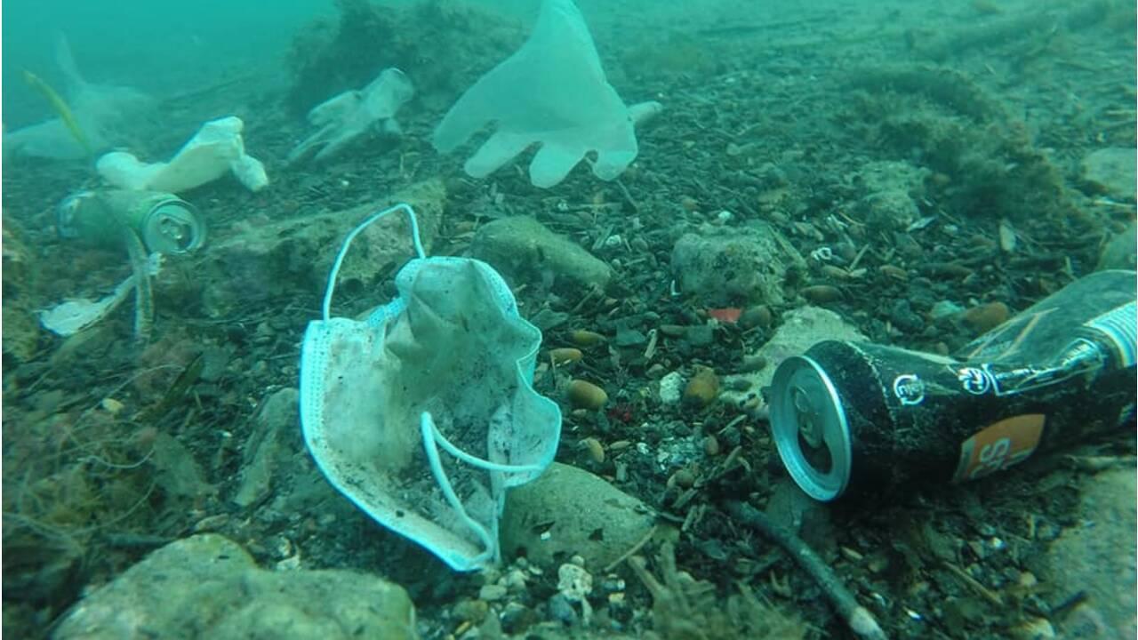 Gants, masques chirurgicaux... Un plongeur filme ces nouvelles sources de pollution en Méditerranée