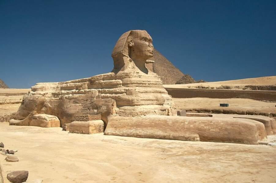 Le sphinx de Gizeh, Egypte