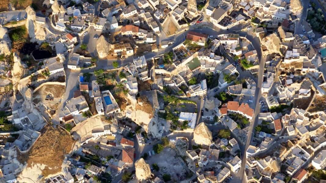 Vue aérienne de Uçhisar