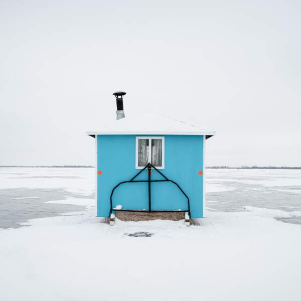 Ice Fishing Huts, Lake Winnipeg