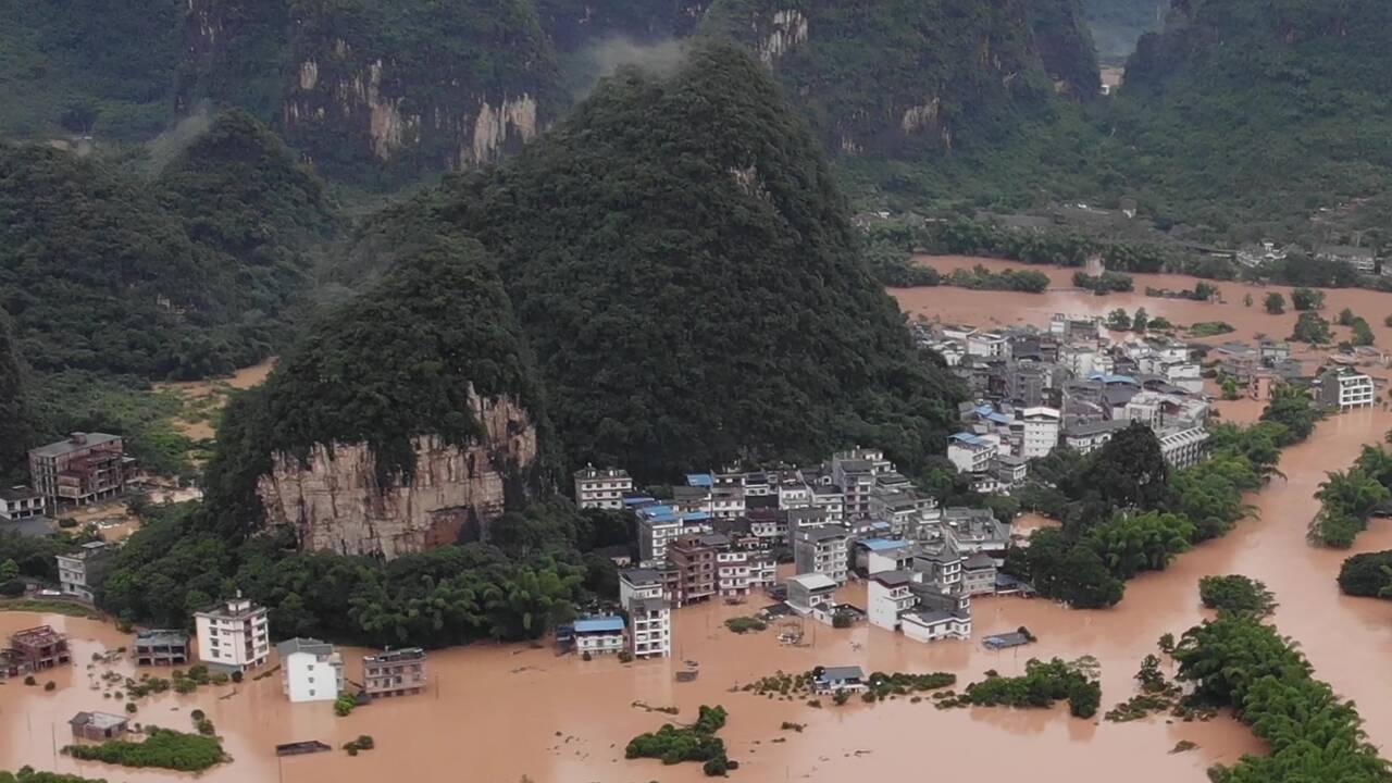 Chine: les pains de sucre inondés, au moins 20 morts