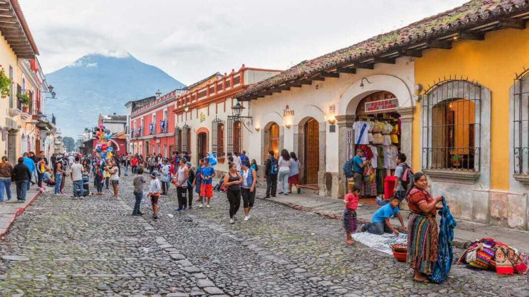 La ville d'Antigua, ancienne capitale du Guatemala