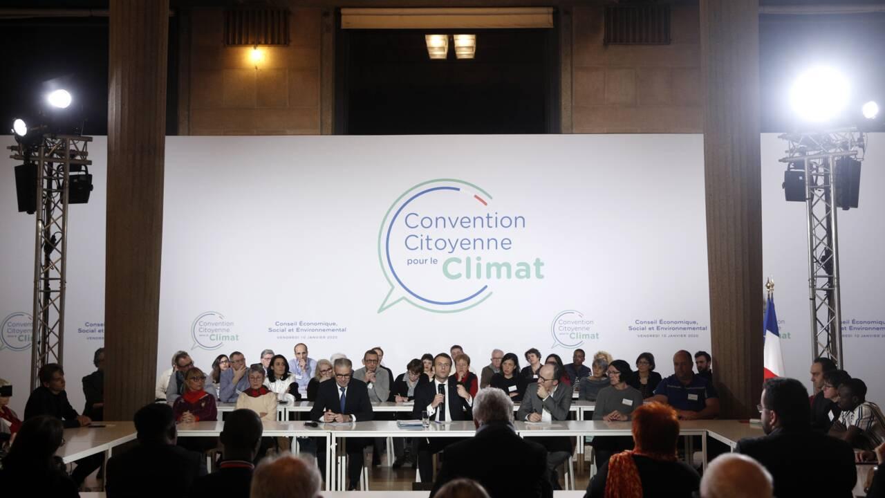 """Macron affiche son """"ambition écologique"""" face à la Convention citoyenne pour le climat"""