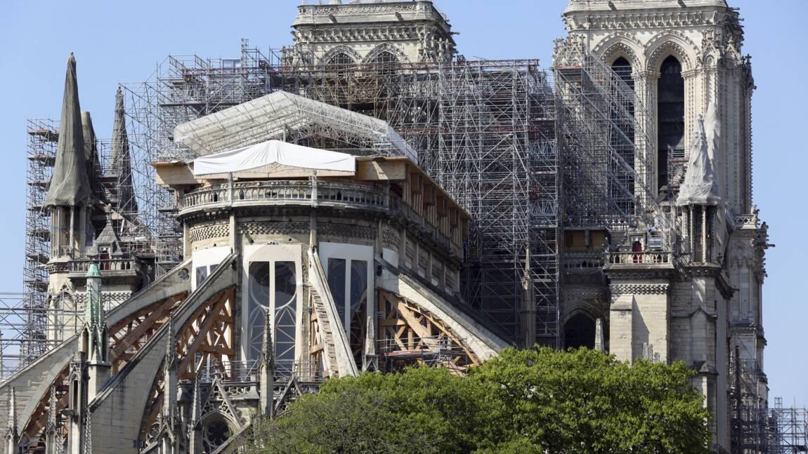 """Notre-Dame: fin du démontage de l'échafaudage """"avant fin septembre"""" selon Jean-Louis Georgelin"""