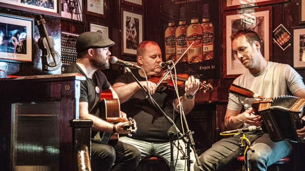 Concert live de musique irlandaise