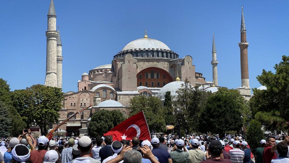 Turquie : la première prière musulmane à Sainte-Sophie a rassemblé plusieurs milliers de personnes