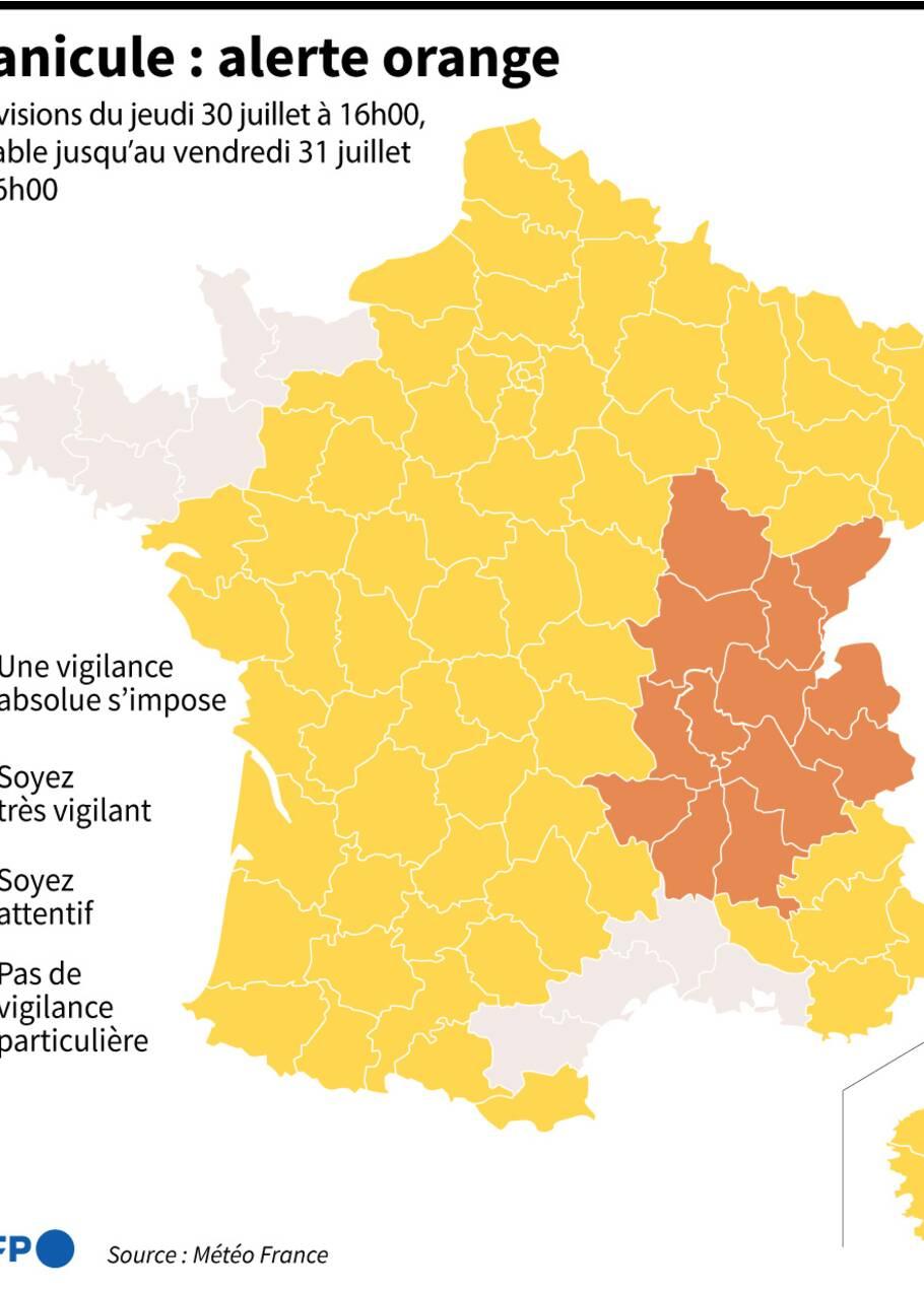 Ça chauffe toujours, 32 départements en alerte orange