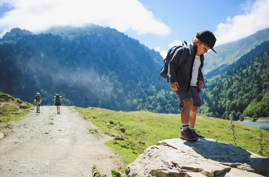 Un week-end dans les Pyrénées avec Chloé Delanoue et son fils Léon