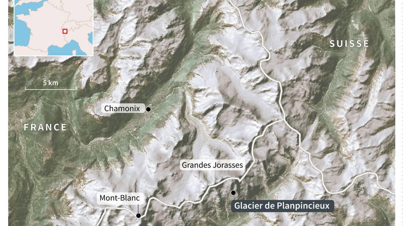 Un glacier du Mont-Blanc sur le point de s'effondrer en Italie