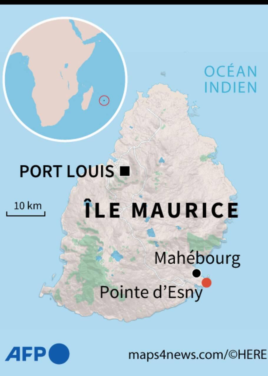 Marée noire: le bateau échoué à l'île Maurice menace de se briser