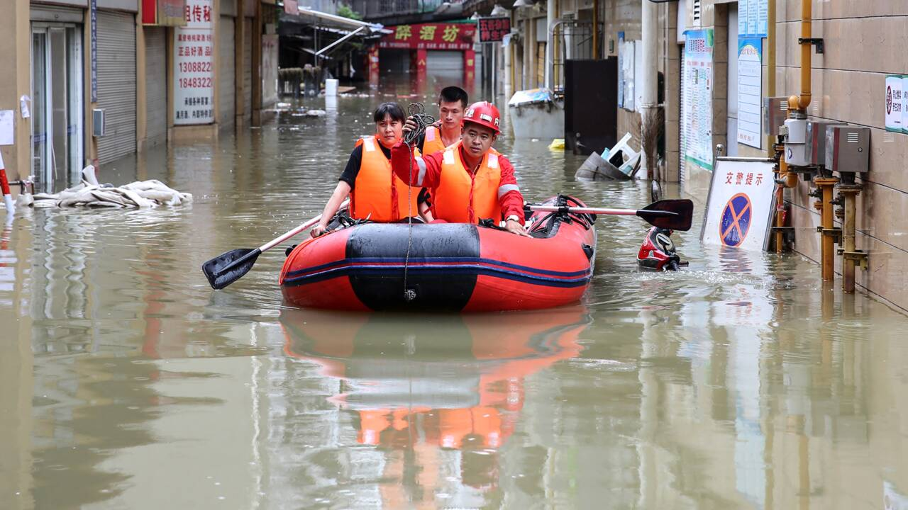 Inondations en Chine: au moins 100.000 habitants évacués