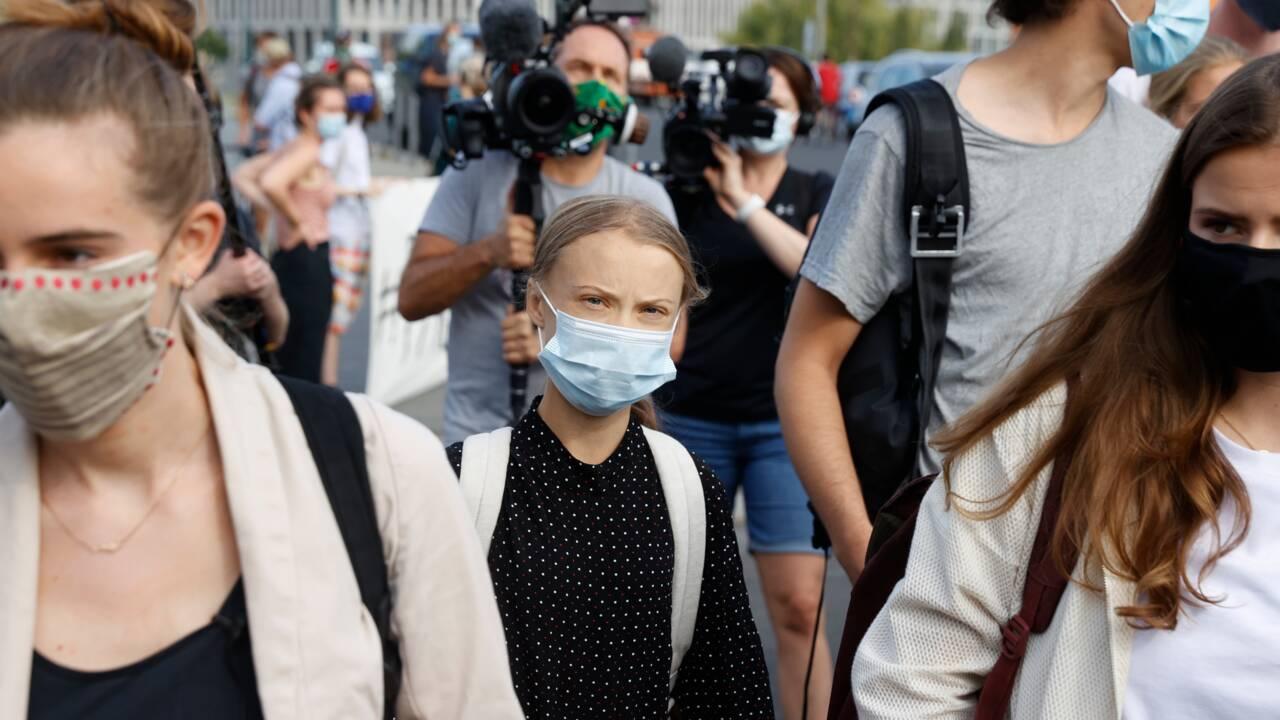 """Climat: Greta Thunberg, reçue par Merkel, dénonce """"l'inaction politique"""""""
