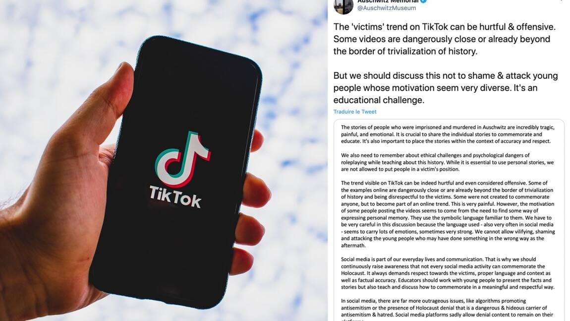 """Ils jouent des victimes de l'Holocauste : la nouvelle tendance de vidéos TikTok jugée """"blessante"""" par le mémorial d'Auschwitz"""