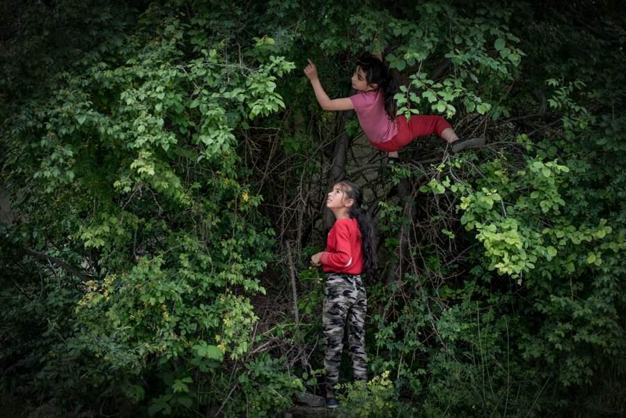 Scène de la vie quotidienne dans le Haut-Karabakh