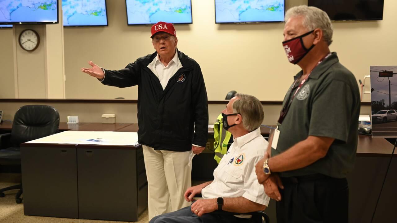 Satisfecit de Trump après le passage de l'ouragan Laura