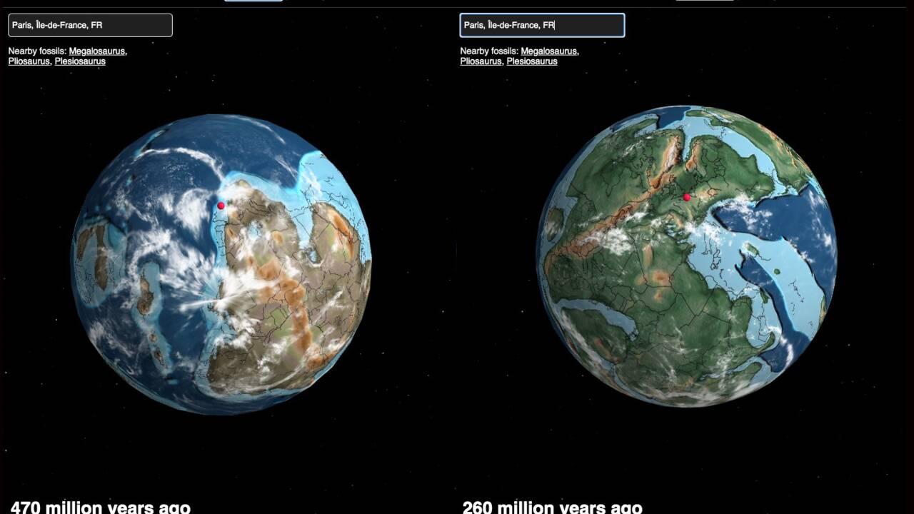 Cette carte interactive vous montre où se trouvait votre ville il y a des centaines de millions d'années