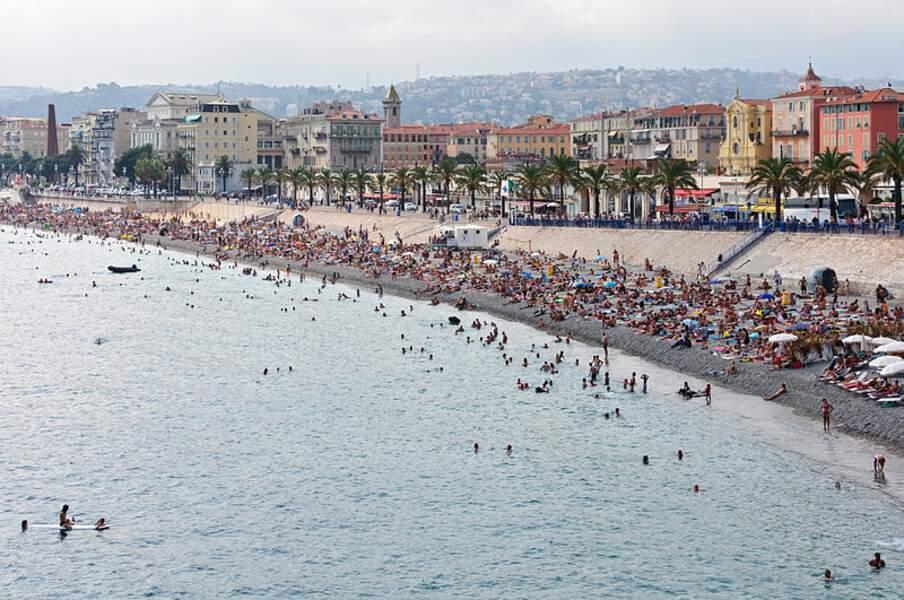 Une plage de Nice