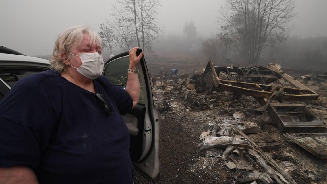 Incendies dans l'Oregon: à Estacada, la désolation et la peur des pillages