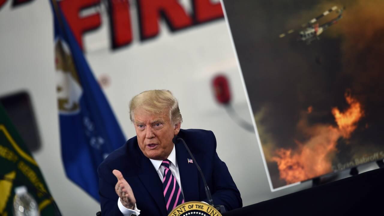 """Incendies: """"Ça finira par se refroidir"""", lance Trump en Californie"""