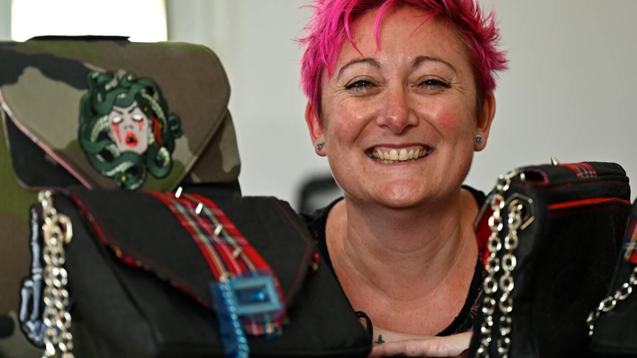 Rébellion d'une ex-gendarme par la maroquinerie punk et vegan