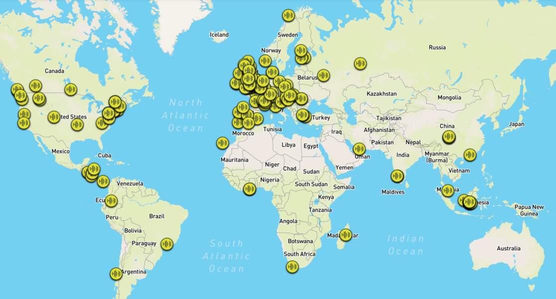 Ecoutez des sons des forêts du monde entier grâce à cette carte interactive