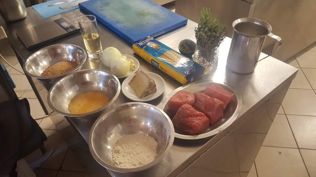 Les ingrédients de la recette