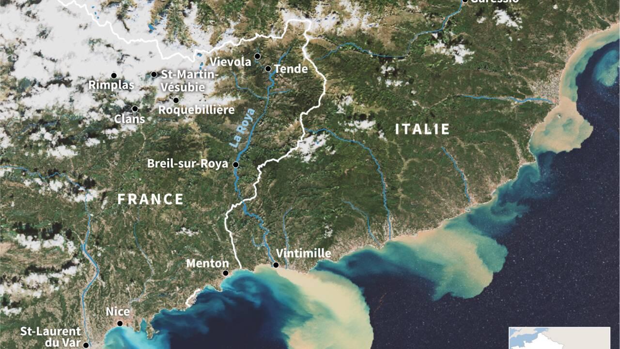 Crues dans les Alpes-Maritimes: 5.000 foyers sans électricité, un réseau à reconstruire