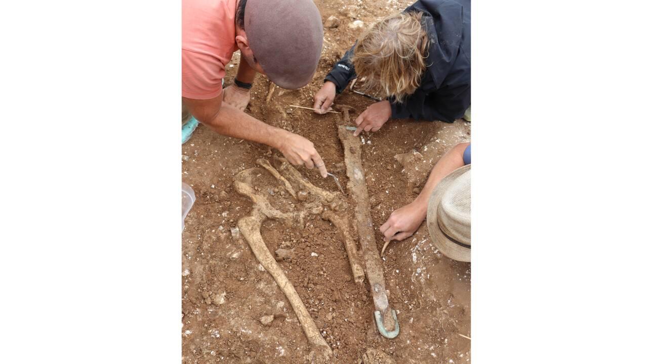 Des archéologues exhument la tombe d'un guerrier anglo-saxon enterré il y a 1400 ans