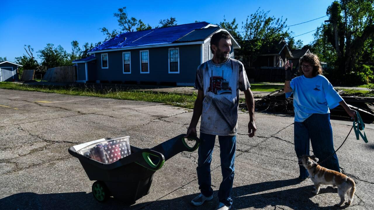 Deux ouragans en six semaines: les habitants de Louisiane épuisés