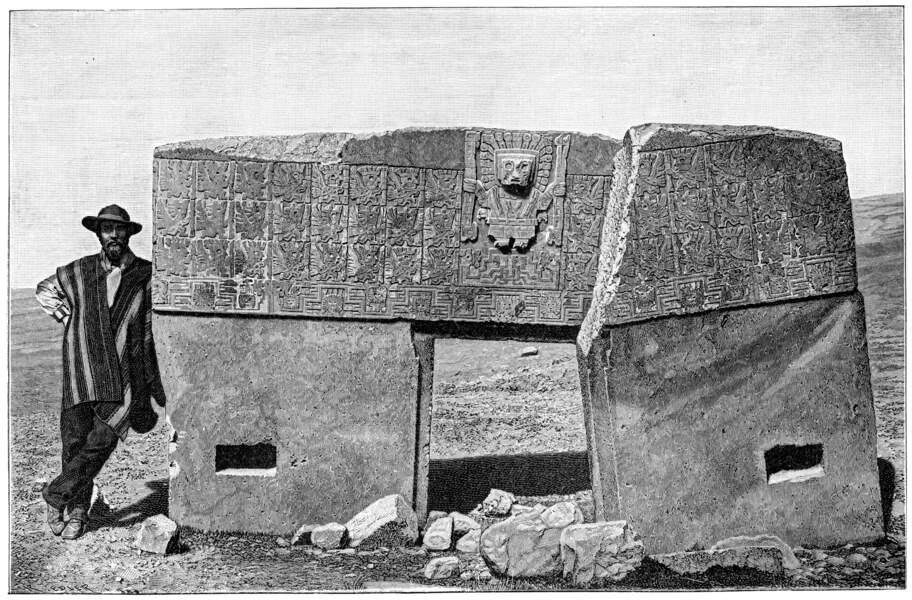 En Bolivie, cette porte fut, de 400 à 1000, le symbole du puissant empire de Tiahuanaco