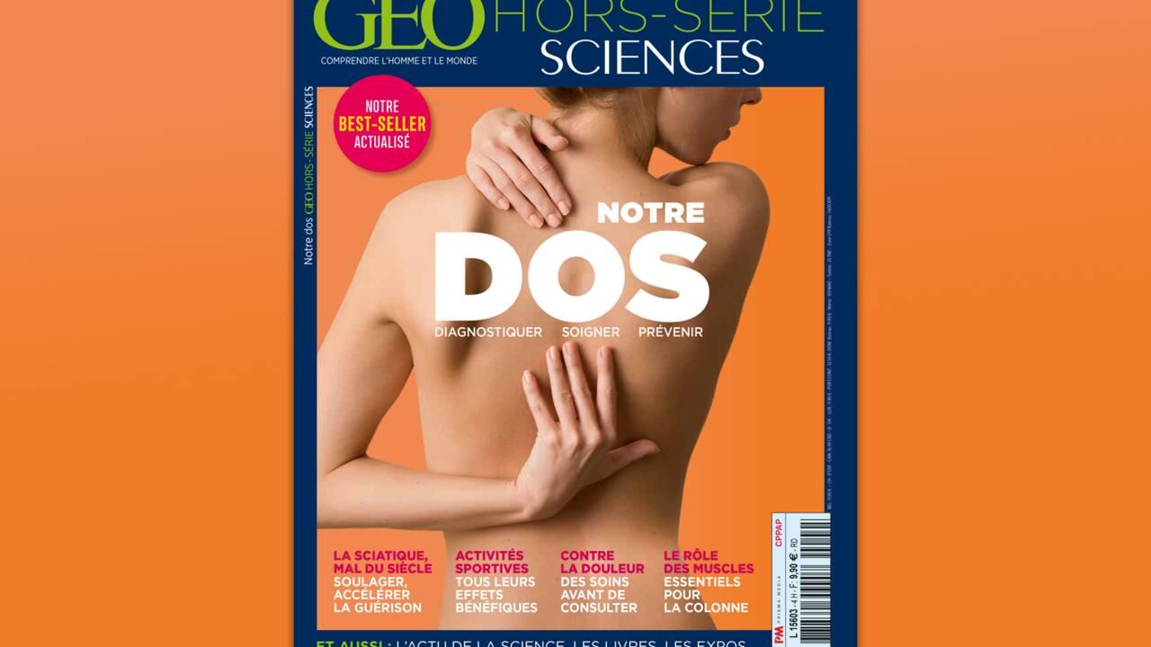 Le dos au sommaire du nouveau hors-série GEO Sciences
